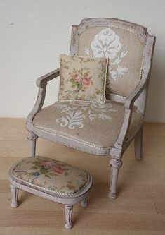 mini chair and footstool