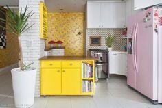 Casinha colorida: Chez Danielle Noce e Paulo Cuenca