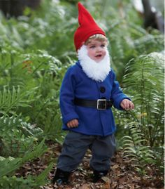 "thinking lil' man might make a cute little ""gnomeo"" for halloween :)"