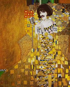 Freddie Mercury in the artistic style of Gustav Klimt Rock Collage, Art Music, Painting, Collage Art Mixed Media, Art, Art Parody, Collage Art, Creative Art, Pop Art