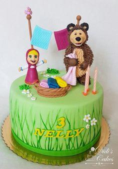 Masha and the bear cake - cake by Didis Cakes