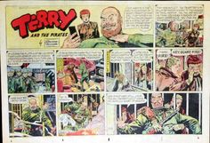 Terry and The Pirates by Wunder Large Half Page Sunday Comic Feb 15 1953 | eBay