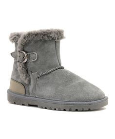Take a look at this Gray Sporty Boot - Women on zulily today!