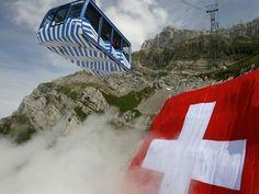 August 1st.    Happy Birthday Switzerland  World's Largest Swiss Flag - 2009
