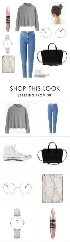"""""""Untitled #74"""" by irka-babii ❤ liked on Polyvore featuring Wrangler, Converse, Lacoste, Nasty Gal, CLUSE and Maybelline"""