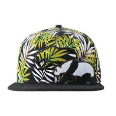 891df6f91c1 Kid s Removable Panda Green Palm Tree Adjustable - Grassroots California -  3 Kids Hats
