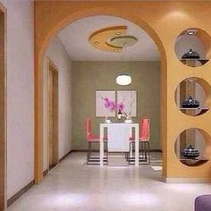 Best POP arches designs, POP wall design for living rooms 2019 Living Room Partition Design, Room Partition Designs, Ceiling Design Living Room, Living Room Designs, Single Floor House Design, House Front Design, Room Interior, Home Interior Design, Archways In Homes