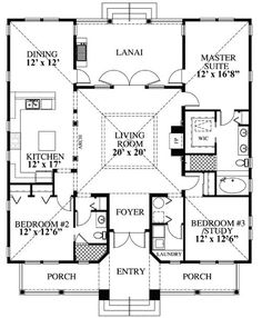 Style House Plan Number 73603 with 3 Bed, 2 Bath First Floor Plan of Coastal Southern House Plan 73603 I. Ancient Roman atrium style houseFirst Floor Plan of Coastal Southern House Plan 73603 I. Beach House Plans, Dream House Plans, My Dream Home, Square House Plans, House On Stilts Plans, Stilt House Plans, Square Floor Plans, Florida House Plans, Cabin Floor Plans