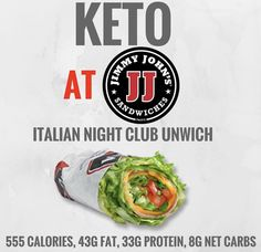 Keto at Jimmy John's. Keto tips and tricks. Keto Fast Food, Healthy Fast Food Options, Keto Foods, Healthy Foods, Fast Foods, Keto Snacks, Keto Restaurant, Restaurant Guide, Chili
