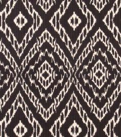 Upholstery Fabric Robert Allen- Strie Ikat - Storm : fabric for ottoman upholstery