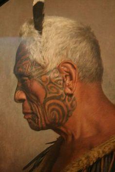 Maori chief by  Charles Goldie (NZ artist)