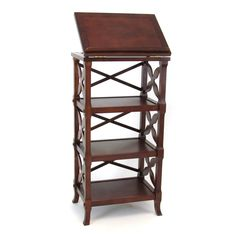Wayborn Charter 3-Shelf Bookcase Podium - TheWayborn Charter 3 Shelf Bookcase Podiumhits home with spacious shelves and adjustable top.  Sturdy pinewood frame with cherry...