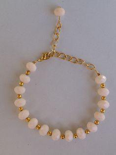 Baby pink crystal bracelet pulseira de cristal