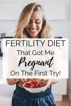 Getting pregnant is so much easier when following a fertility diet plan! Incorporate the best fertility foods when trying to conceive to increase fertility and prepare your body for pregnancy. #fertility