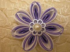 КРАСИВЫЙ Цветок из Ленты 2.5 см. КАНЗАШИ Своими Руками./DIY /KANZASHI /Tutorial / Flower./ - YouTube