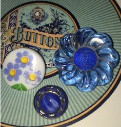 Pretty blue buttons  Like buttons? Come join our facebook group https://www.facebook.com/groups/whosgotbuttons/