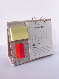 Diy Agenda, Cute School Supplies, Calendar Design, Desk Calendars, Easy Diy Crafts, Bookbinding, Stationery, Paper Crafts, Clipboards