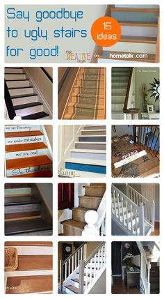 Got an ugly set of stairs? Here are 15 great ideas for a stair redesign!