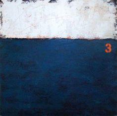 "Saatchi Art Artist Aaron Jackson; Painting, ""3 on Blue"" #art"