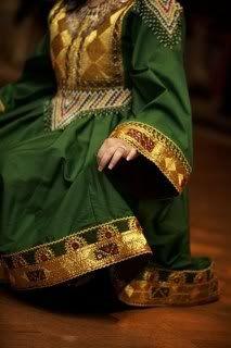 Traditional Afghan Dresses -green afghan dress