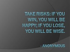 Take risks! #challenges #motivation