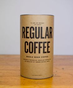 Regular Coffee// 10 Best Coffee Bean Packaging Designs for National Cappuccino Day #packaging design # design #branding