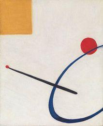 "Untitled, 1930 Alexander Calder. Oil on canvas 18"" x 15"". Calder Foundation, New York"
