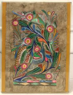 Buy online, view images and see past prices for Vintage Mexican Amate Folk Art. Invaluable is the world's largest marketplace for art, antiques, and collectibles. Indian Paintings, Owl Paintings, Architecture Tattoo, Art Deco Posters, Hindu Art, Mexican Folk Art, Native Art, Whimsical Art, Tribal Art