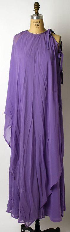 1974 House of Lanvin, Jules Francois Crahay Designer Evening dress Metropolitan Museum of Art, NY See more museum vintage dresses at http://www.vintagefashionandart.com/dresses