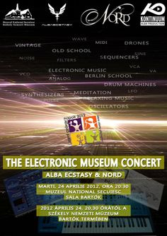 Alba Ecstasy & Nord: The Electronic Museum Concert. Banner - April 2012