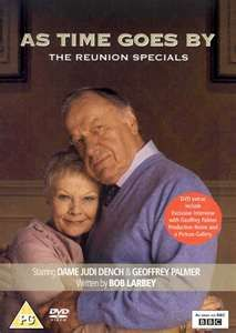 As Time Goes By is a British sitcom that aired on BBC One from 1992 to 2005. Starring Judi Dench and Geoffrey Palmer, it follows the relationship between two former lovers who meet unexpectedly after not having been in contact for 38 years. Wikipedia