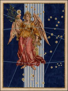 Virgo from Rare Book: Johann Bayer's Celestial Atlas, Augsburg / 1603