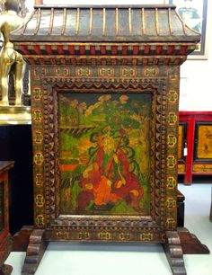 Decorative Tibetan Panel Home Decor Furniture, Painting, Asian, Interiors, Accessories, Painting Art, Paintings, Decoration Home, Painted Canvas
