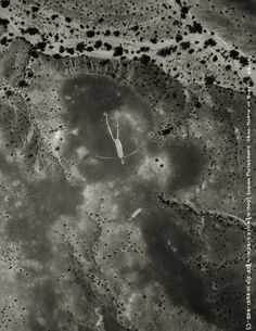 This photo of the Blythe intaglios shows them in pristine condition. In the mid 70's the Bureau of Land Management was forced to erect fences around them because they were being defaced by the tracks of careless vehicle operators. Defacement of archaeological resources now rates, for a first time offender, a possible year in jail and $10,000 fine. The figures are believed to represent creation myths.  Location:BLYTHE INTAGLIOS, SONORAN DESERT, CALIFORNIA.