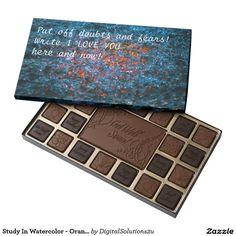 Study In Watercolor - Orange Assorted Chocolates