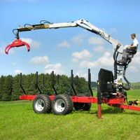 farm tractor log loader with trailer,log trailers with grapple