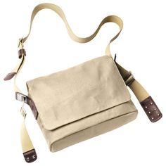 Scopri Tracolla Paddington -/ Tessuto, Ecru & marrone di Brooks, Made In Design Italia