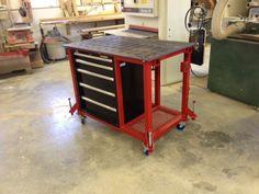 welding table on wheels Welding Table Diy, Welding Cart, Welding Shop, Metal Welding, Diy Table, Workshop Bench, Garage Workshop, Metal Projects, Welding Projects