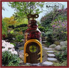 Makin's Clay® Blog: Bottle of Hope House by Patricia Krauchune