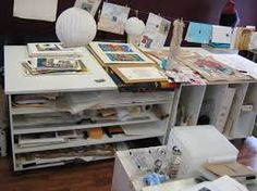 Image result for home art studio table