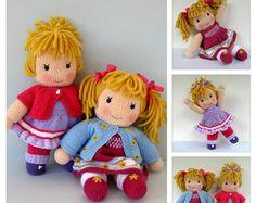 Little Friends in Autumn  toy doll knitting pattern  pdf