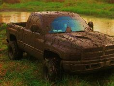 What's the point of a clean truck? A muddy truck is a loved truck! Jacked Up Trucks, Dodge Trucks, Chevrolet Trucks, 1957 Chevrolet, 4x4 Trucks, Chevrolet Impala, Chevy, Country Boys, Country Life
