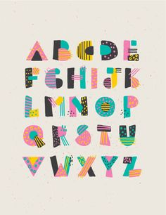 Graffiti Lettering Fonts, Hand Lettering Alphabet, Typography Love, Alphabet Design, Creative Typography, Lettering Design, Alphabet Capital Letters, Different Lettering, Geometric Font