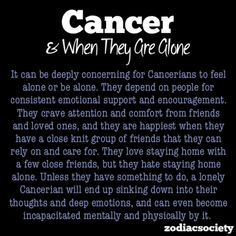Cancer & Being Alone