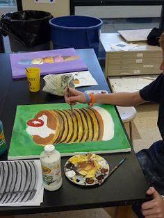 Sweet Treats paintings Wayne Thiebaud!The Calvert Canvas: Adventures in Middle School Art!: 6th Grade