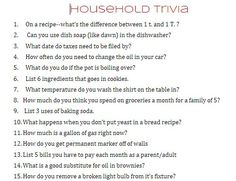 a household trivia quiz...fun for mutual! follow up with teaching them to sew a button