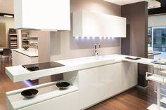 Cocinas Blancas - Cocina de Cristal templado