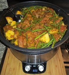Healthy Slow Cooker, Healthy Crockpot Recipes, Slow Cooker Recipes, Cooking Recipes, Healthy Meals For Two, Easy Meals, Exotic Food, Caribbean Recipes, I Love Food