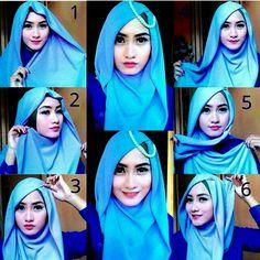 hijab seri empat 2 warna untuk pesta