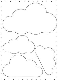 how to make felt rainbow baby nursery mobile Felt Crafts, Diy And Crafts, Crafts For Kids, Paper Crafts, Cloud Template, Balloon Template, Cloud Party, Clouds Pattern, Diy Bebe